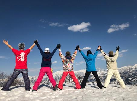 meme先生と行くスノーボードツアー無事終了しました:)