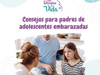 Consejos para padres de adolescentes embarazadas