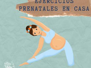 Ejercicios prenatales en casa