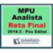 DAMÁSIO_2018.2_-_MPU_ANALISTA_PÓS_EDITAL