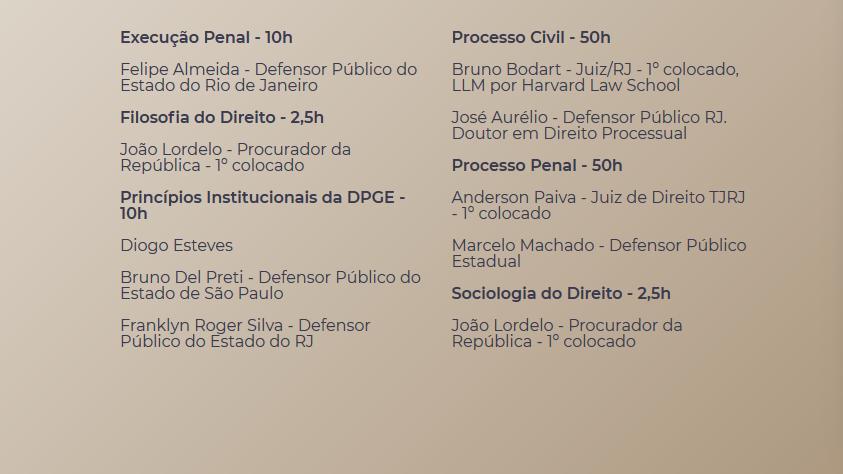 Juiz + Promotor + Defensor - Estaduais C