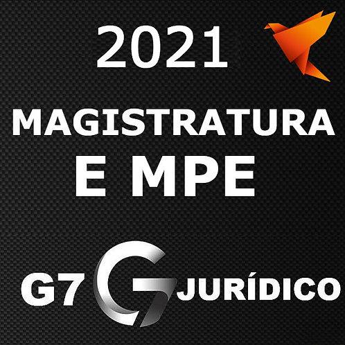 Magistratura e Ministério Público Estaduais + Complementares + Lpe G7 2021