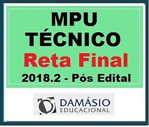 DAMÁSIO 2018.2 - MPU TÉCNICO PÓS EDITAL.