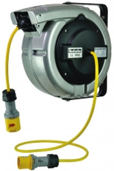 YZ6185/IP65 -Aluminium 110v Cable Reel 15m x 2.5mm 3 Core