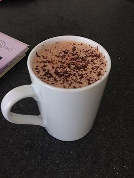 1st hot chocolate.JPG