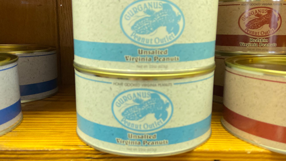 Unsalted Peanuts - Vacuum Sealed Tin  (22 oz)