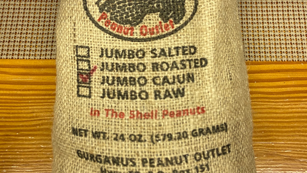 Cajun Hot Nuts - Burlap Bag  (1.5 LB)
