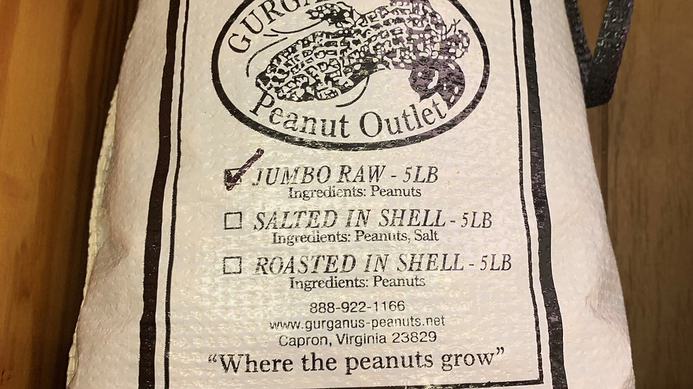 Jumbo Peanuts in Shell Bag  (5 LB)