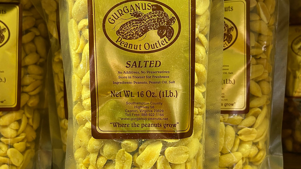 Unsalted Peanuts - Sealed Bag  (1 LB)