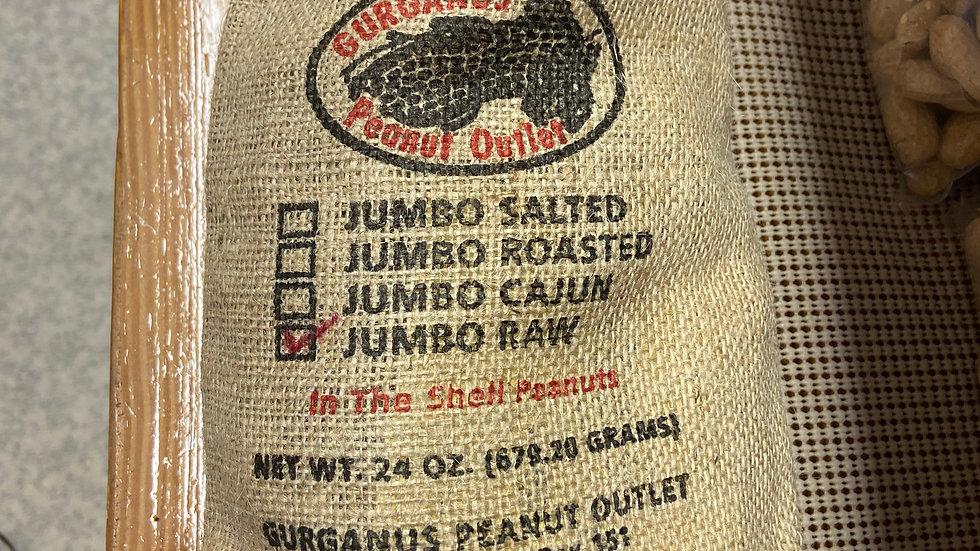Jumbo in Shell Peanuts - Burlap Bag  (1.5 LB)
