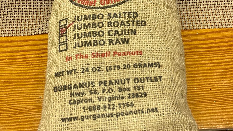 Jumbo Roast in Shell Peanuts - Burlap Bag  (1.5 LB)