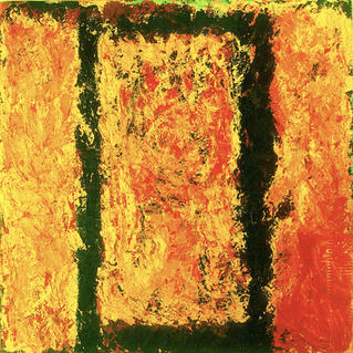 From Serie Square Fire - Marc GOLDSTAIN 1994 1997 - Acrylique On Canvas