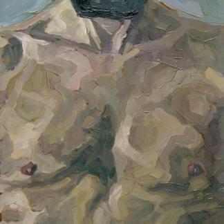 Torso Henry - Marc GOLDSTAIN 1992 1993 - Oil On Wood - Portrait