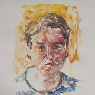 Abel 2 Monotype - 44,5x28cm - Marc GOLDSTAIN 2014 - Oil On Paper - Portraits - Atelier Life