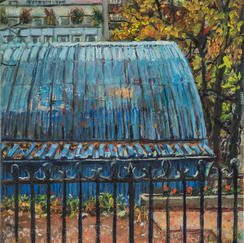 Tennis Club - 35x27cm - Marc GOLDSTAIN 2014 - Oil On Canvas - Urban Landscape - Architecture - Contemporary Painting - Realistic Painting