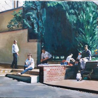 Family Portrait - Marc GOLDSTAIN 2000 - Oil On Canvas - Rozoy
