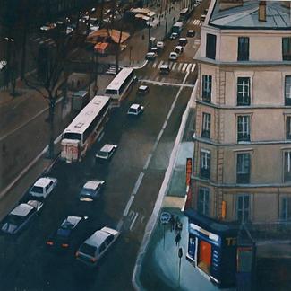 Boulevard De Rochechouard - Marc GOLDSTAIN 1999 - Oil On Canvas - Paris - Anvers - 100X100Cm