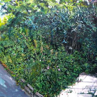 Urban Jungle - 97x146cm - Marc GOLDSTAIN 2014 - Oil On Canvas - Urban Landscape - Vegetable Friche - Paris - Contemporary Painting
