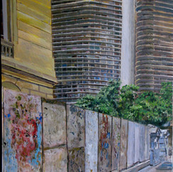 niemeyer with graffiti bh- acryl on canvas- belo horizonte-brasil-urban landscape-achitect