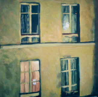 Façade With Four Windows2 - Marc GOLDSTAIN 1997 - Oil On Canvas - Paris - Rue - Sedaine