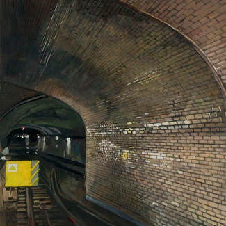 South Subway - 100x73cm - Marc GOLDSTAIN 2012 - Oil On Canvas - Metro - Paris - Underground - Tunnel - Contemporay Art - Realistic Painting