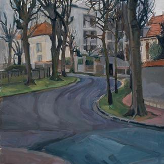 St Maur 1 - Marc GOLDSTAIN 1992 1993 - Oil On Isorel - Urban Landscape