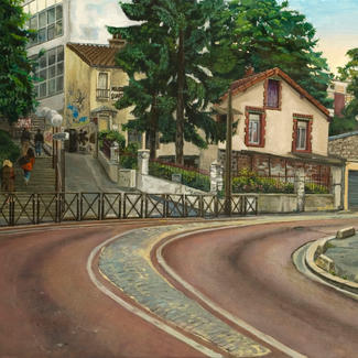 The Turn Ivry - 97x130cm - Marc GOLDSTAIN 2013 - Oil On Canvas - Urban Landscape - Every Day Life - Contemporary Painting - Realistic Painting