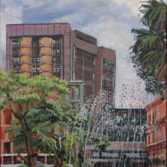 Praça de la libertad-acryl on canvas- belo horizonte-brasil-urban landscape-achitecture.jp