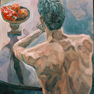 Back Still Life - Marc GOLDSTAIN 1992 1993 - Oil On Wood - Nude.Jpg