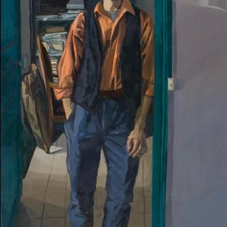 Blue Studio Henry Stand - Marc GOLDSTAIN 1992 1993 - Oil On Isorel - Artist Studio