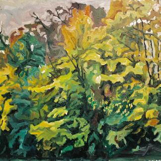 Edges Of The Marne 3 - Marc GOLDSTAIN 1992 1993 - Oil On Canvas - Autumn Trees