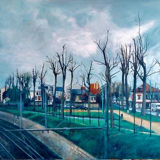 Rer Le Parc - Marc GOLDSTAIN 2000 - Oil On Canvas - St Maur - 130X162Cm