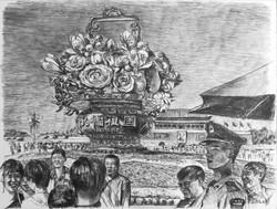 Tian'anmen flowers, Beijing