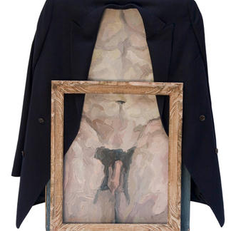 The Dressed Nude Bare Frame - Marc GOLDSTAIN 2006 - Oil On Canvas - Naked - Renoma Blazer - Contemporary Painting
