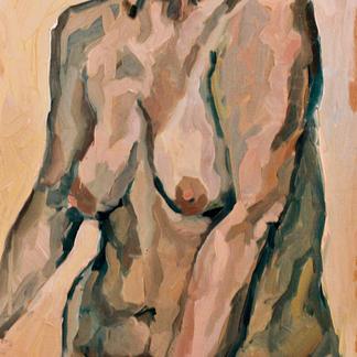 Torso Woman - Marc GOLDSTAIN 1992 1993 - Oil On Wood - Nude