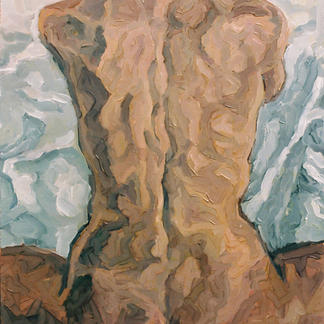 Back Girl Oil - Marc GOLDSTAIN 1992 1993 - N Wood - Nude