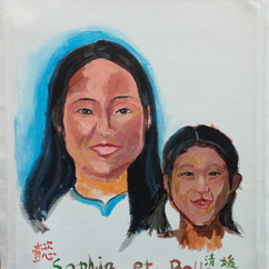 sophia_et_bella_ portraits_china_ french_alliance_shanghai_acrylic on canvas_marc_goldstai