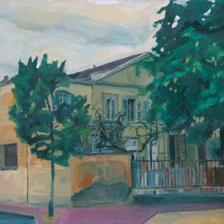 St Maur 12 - Marc GOLDSTAIN 1992 1993 - Oil On Canvas - Urban Landscape
