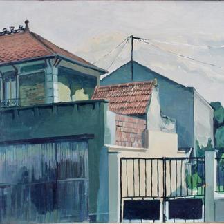 St Maur 4 - Marc GOLDSTAIN 1992 1993 - Oil On Panel - Urban Landscape