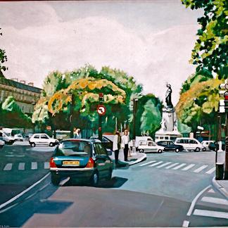 Place De La Republique - Marc GOLDSTAIN 2000 - Oil On Canvas - Paris - 89X116Cm