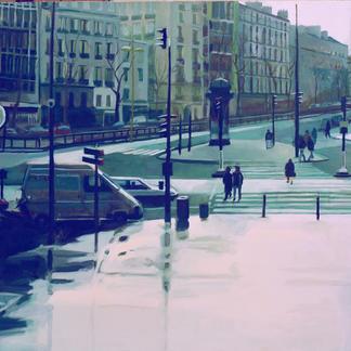 Behind Montparnasse Station - Marc GOLDSTAIN 1999 - Oil On Canvas - Paris - 130X162Cm