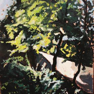 Jemmapes Island 2 Marne - Marc GOLDSTAIN 1992 1993 - Oil On Panel - Trees