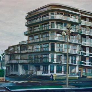 La Baule S Building - Marc GOLDSTAIN 2000 - Oil On Canvas - 114X146Cm