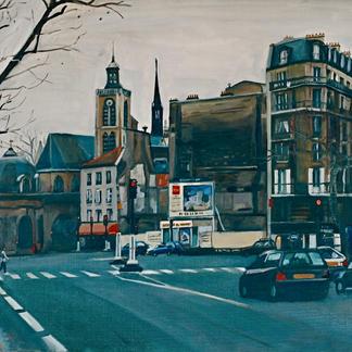 Near Gare Du Nord - Marc GOLDSTAIN 2000 - Oil On Canvas - Paris