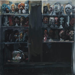 Scary Masks - 50x50cm - Marc GOLDSTAIN 2013 - Acryl On Canvas - Monsters - Halloween - Contemporrary Paintings - Show Room
