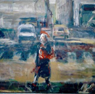 Big Passer By - Marc GOLDSTAIN 1995 1996 - Oil On Canvas - Paris - Faubourg - Du Temple Street - 200X300Cm