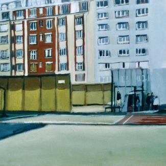 Basket - Marc GOLDSTAIN 1998 - Oil On Wood - Paris