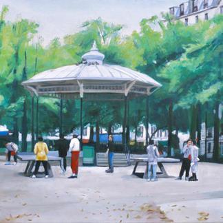 Square Trousseau - Marc GOLDSTAIN 1999 - Oil On Canvas - Paris - Ping Pong