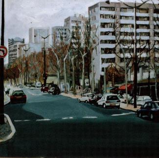 Boulevard Vincent Auriol - Marc GOLDSTAIN 1998 - Oil On Canvas - Paris - Urban Landscape - Architecture - Contemporary Art - Realistiic Painting