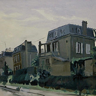 St Maur 7 - Marc GOLDSTAIN 1992 1993 - Oil On Panel - Urban Landscape